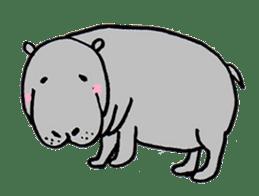hippopotamus Sticker sticker #1938353
