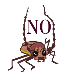 Sticker of insects