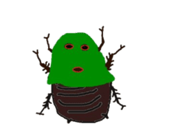 Sticker of insects sticker #1944826