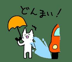 white cat sticker :) sticker #1945487