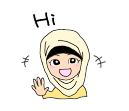 Happy Hijab Girl 1(Eng) sticker #1946758