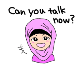 Happy Hijab Girl 1(Eng) sticker #1946759