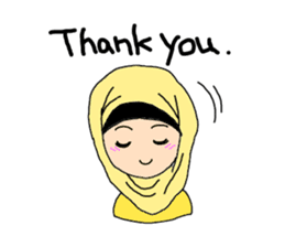 Happy Hijab Girl 1(Eng) sticker #1946761