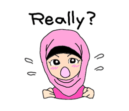 Happy Hijab Girl 1(Eng) sticker #1946764