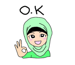 Happy Hijab Girl 1(Eng) sticker #1946767