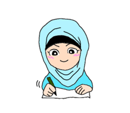 Happy Hijab Girl 1(Eng) sticker #1946773