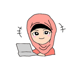 Happy Hijab Girl 1(Eng) sticker #1946774
