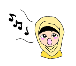 Happy Hijab Girl 1(Eng) sticker #1946775