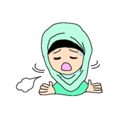 Happy Hijab Girl 1(Eng) sticker #1946777