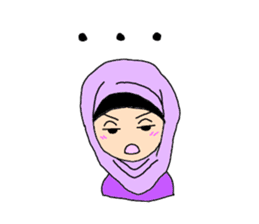 Happy Hijab Girl 1(Eng) sticker #1946778