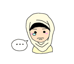 Happy Hijab Girl 1(Eng) sticker #1946780