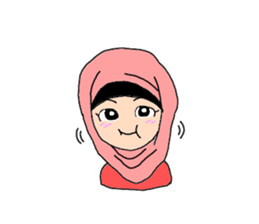 Happy Hijab Girl 1(Eng) sticker #1946791