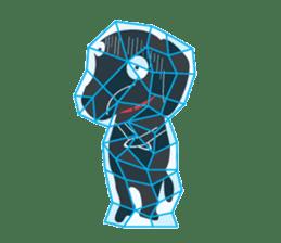 Black Lab moo sticker #1952838