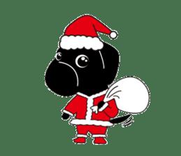 Black Lab moo sticker #1952851