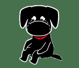 Black Lab moo sticker #1952862