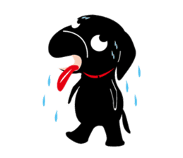 Black Lab moo sticker #1952867
