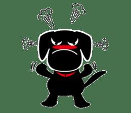 Black Lab moo sticker #1952868