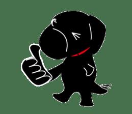 Black Lab moo sticker #1952870