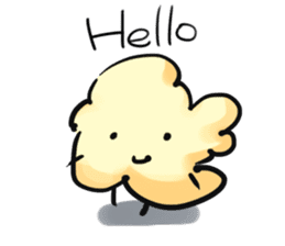 "Character ""popcorn"" sticker #1953800"