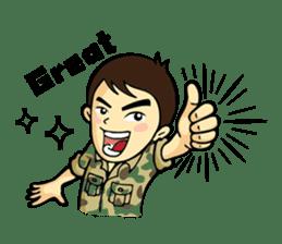 Hearty & Happy Soldier sticker #1954329
