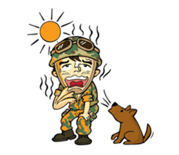 Hearty & Happy Soldier sticker #1954339