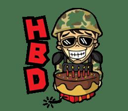 Hearty & Happy Soldier sticker #1954343