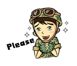 Hearty & Happy Soldier sticker #1954346