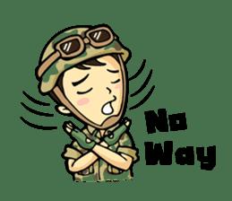 Hearty & Happy Soldier sticker #1954350