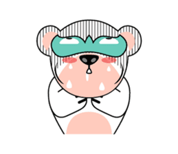 shirokuma and shirousagi mask sticker #1956045