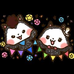Good friend  black cat Ohagi & Oshiruko