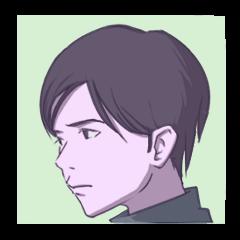 Handsome Boy Sticker