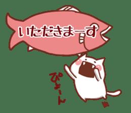 balloon and cat sticker. sticker #1963448