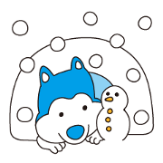 สติ๊กเกอร์ไลน์ Snow Life of Yukio and Setsu
