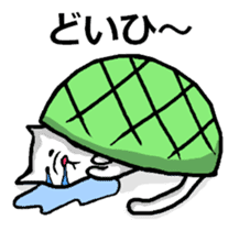 Tortoise cat sticker #1978576