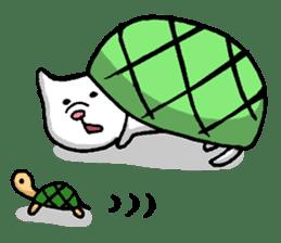 Tortoise cat sticker #1978589
