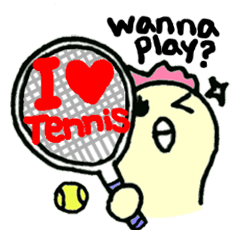 "Here comes a Tennis Nut chick ""Hiyokko""!"