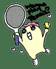 "Here comes a Tennis Nut chick ""Hiyokko""! sticker #1991205"