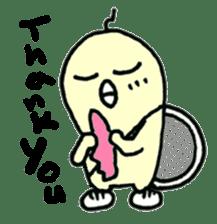 "Here comes a Tennis Nut chick ""Hiyokko""! sticker #1991207"