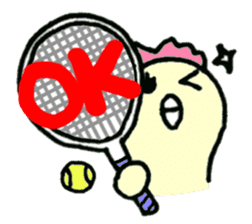 "Here comes a Tennis Nut chick ""Hiyokko""! sticker #1991208"