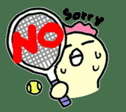 "Here comes a Tennis Nut chick ""Hiyokko""! sticker #1991209"