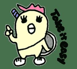 "Here comes a Tennis Nut chick ""Hiyokko""! sticker #1991210"