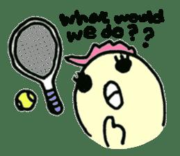 "Here comes a Tennis Nut chick ""Hiyokko""! sticker #1991213"