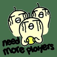 "Here comes a Tennis Nut chick ""Hiyokko""! sticker #1991230"