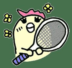 "Here comes a Tennis Nut chick ""Hiyokko""! sticker #1991233"