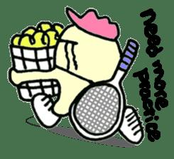 "Here comes a Tennis Nut chick ""Hiyokko""! sticker #1991236"