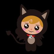 สติ๊กเกอร์ไลน์ Devil Kitten