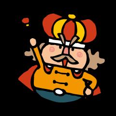 The king sticker of Koichi Taniguchi