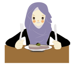 lovely Hijabi sticker #1995038