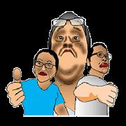 สติ๊กเกอร์ไลน์ Phrase uncle and pleasant friends!(Pro)