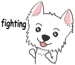 I LOVE West Highland White Terrier. sticker #2013132